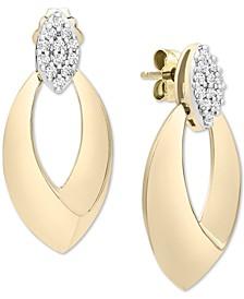 Diamond Door Knocker Drop Earrings (1/4 ct. t.w.) in 14k Gold