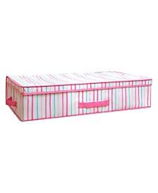 Laura Ashley Kids Under the Bed Storage Box in Painterly Pink Stripe