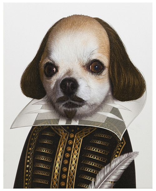 Empire Art Direct Pets Rock 'Shakespeare' Graphic Art on Wrapped Canvas Wall Art - 20'' x 16''