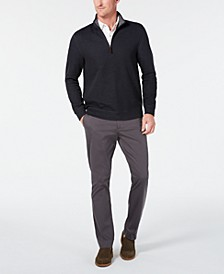 Men's Knit Shirt & Birdseye 1/4-Zip Sweater, Created for Macy's