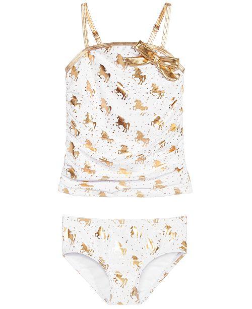 Sol Swimwear Toddler Girls 2-Pc. Unicorn Glam Tankini