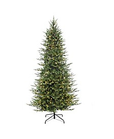 International 9 ft. Pre-Lit Slim Balsam Fir Artificial Christmas tree with 800 UL-Listed Clear Lights