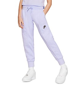 Nike Big Girls Air Fleece Textured Jogger Pants