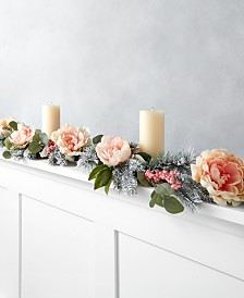Martha Stewart Collection Royal Blush Artificial Garland, Created for Macy's