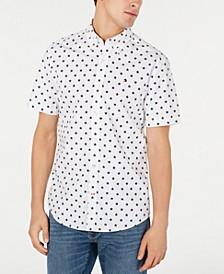 Men's Custom-Fit Abbott Star Print Short Sleeve Button-Down Shirt