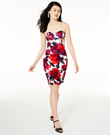 B Darlin Juniors' Sweetheart Bodycon Dress, Created for Macy's