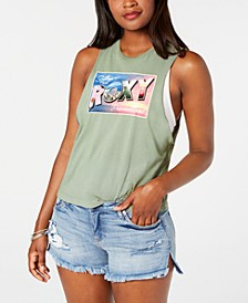 Juniors' Cotton Graphic-Print Tank Top