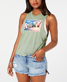 Roxy Juniors' Cotton Graphic-Print Tank Top
