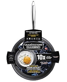 "GraniteStone Diamond 12"" Titanium Nonstick Coating Mineral Infused Fry Pan"