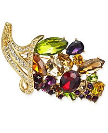 Gold-Tone Crystal Cornucopia Pin, Created for Macy's