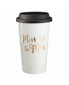 - Miss To Mrs. Ceramic Travel Mug