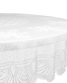 "Floral Polyester Lace Tablecloth 63"" Round"