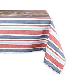 "Patriotic Stripe Tablecloth 60"" x 84"""