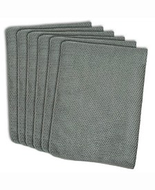 Textured Microfiber Dishtowel, Set of 6 Gray