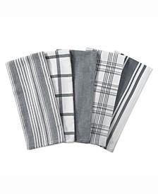 Assorted Woven Dishtowels, Set of 5