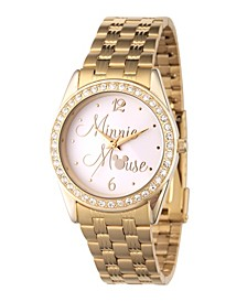 Women's Disney Minnie Mouse Gold Bracelet Watch 30mm