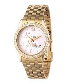 EwatchFactory Women's Disney Minnie Mouse Gold Bracelet Watch 30mm