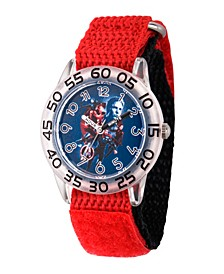 Boy's Marvel Avengers Endgame Hawkeye,Iron Man,Captain America,Thor Red Plastic Time Teacher Strap Watch 32mm