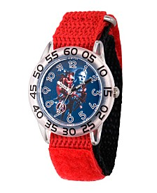EwatchFactory Boy's Marvel Avengers Endgame Hawkeye,Iron Man,Captain America,Thor Red Plastic Time Teacher Strap Watch 32mm