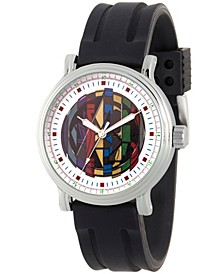 Men's Marvel Avengers Endgame Avengers Alloy Vintage Black Strap Watch 44mm