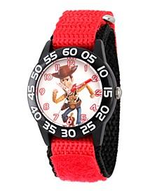 Boy's Disney Toy Story 4 Woody Red Plastic Time Teacher Strap Watch 32mm