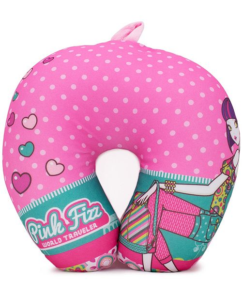 Pink Fizz Girls Soft Microbeads Neck Pillow