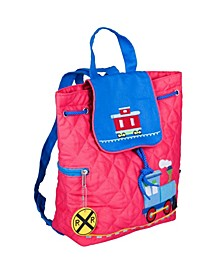 Trains, Planes and Trucks Quilted Backpack