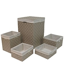 Redmon 5 Piece Hamper and Basket Set