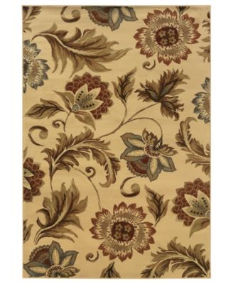 "CLOSEOUT! Area Rug, Pember 701W Floral Ivory 5'3"" x 7'3"""