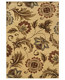 CLOSEOUT! Oriental Weavers Rugs, Pember 701W Floral Ivory