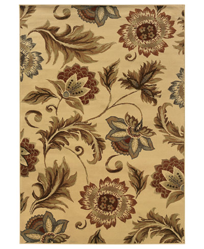 CLOSEOUT! Oriental Weavers Area Rug, Pember 701W Floral Ivory 3'3