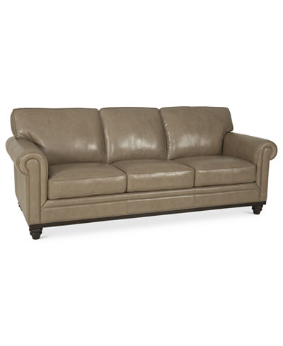 Martha Stewart Collection Bradyn Leather Sofa