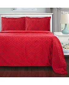Superior Flannel Cotton Duvet Cover Set - Full/Queen