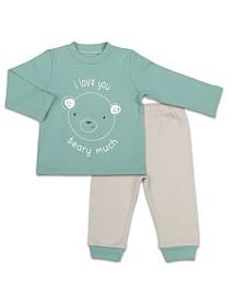 The Peanutshell Baby Unisex Long Sleeve Shirt And Pants Set