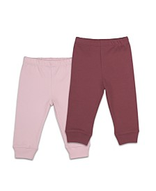 The Peanutshell Baby Girl 2 Pack Baby Pants Set