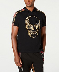 INC Men's Leopard Print Skull Graphic T-Shirt, Created for Macy's