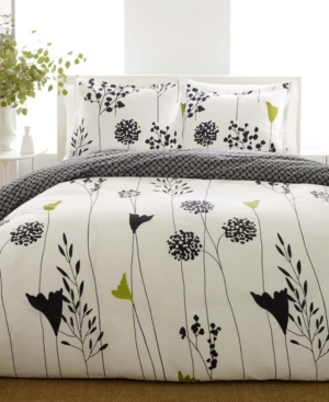 Perry Ellis Asian Lily Twin Duvet Cover Set Bedding