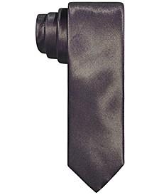Men's Slim Taupe Textured Tubular Tie