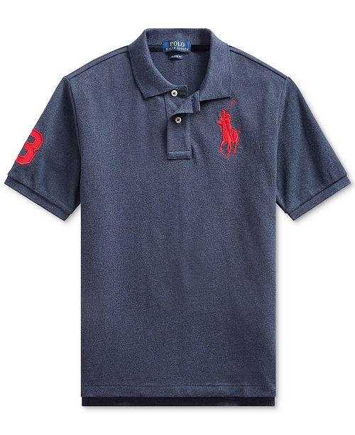 Polo Ralph Lauren Big Boys Cotton Mesh Polo Shirt