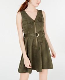 Rosie Harlow Juniors' Microsuede Dress