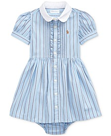 Polo Ralph Lauren Baby Girls Stripe Cotton Dress