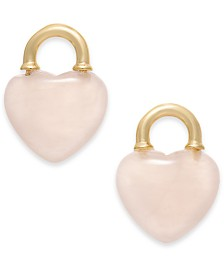Kate Spade New York Gold-Tone Stone Heart Stud Earrings