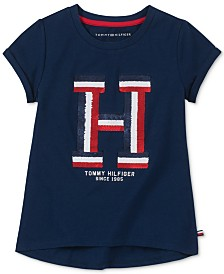Tommy Hilfiger Big Girls Reversible Sequin T-Shirt