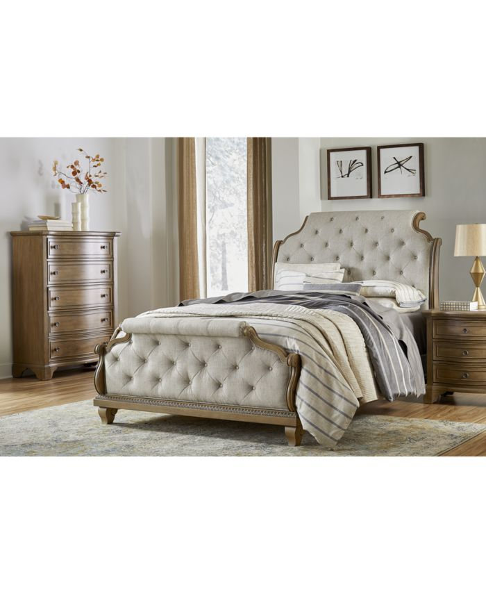 Klaussner Trisha Yearwood Jasper County Upholstered Queen Bed  & Reviews - Furniture - Macy's