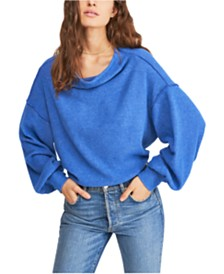 Free People Main Squeeze Ribbed Seamed Sweater