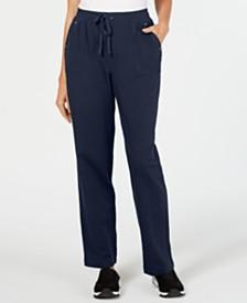 Karen Scott French Terry  Pull-On Drawstring Pants, Created for Macy's