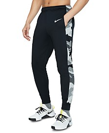 Nike Men's Dri-FIT Camo-Trim Fleece Tapered Pants