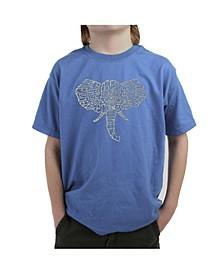 Big Boy's Word Art T-Shirt - Tusks