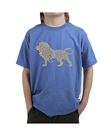 Big Boy's Word Art T-Shirt - Lion