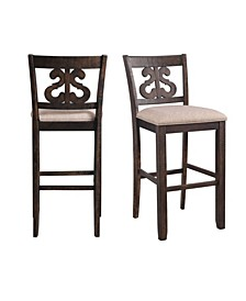 "Stanford 30"" Swirl Back Bar Stool Set"
